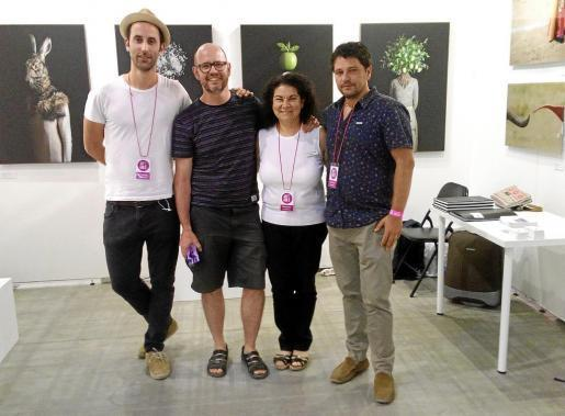 Los representantes ibicencos del arte contemporáneo han participado con mucha ilusión en la primera edición de Art Fair de Málaga.
