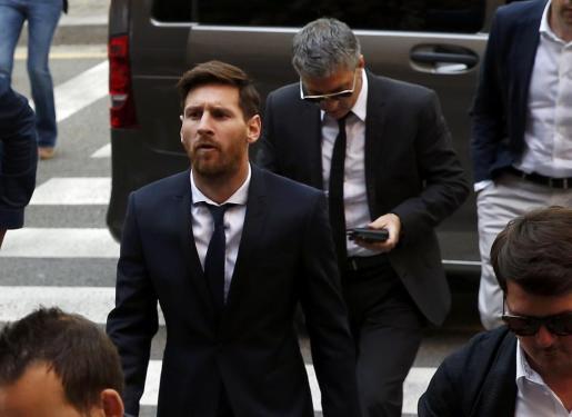 Imagen de archivo del futbolista argentino durante la celebración del juicio en su contra por fraude fiscal.