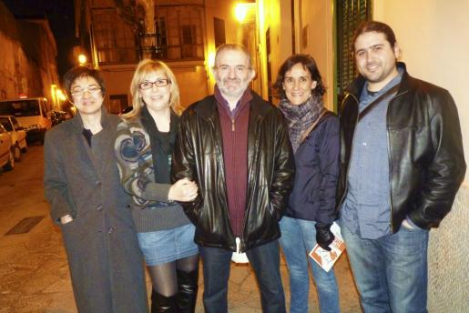 Margalida Homar, Coloma Ramis, Jaume Mateu, Catalina Galmés y Rafel Sedano.