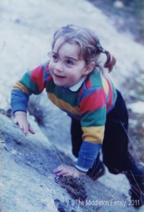 Kate Middleton, con tan sólo tres años y medio.