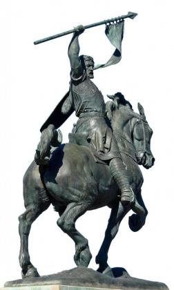 Estatua del Cid en la avenida del mismo nombre, en Sevilla.