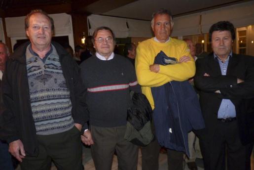 """Emilio Sánchez """"Illana"""", Juan Sancho, Miguel Vallespir y Marcelino Mestre."""