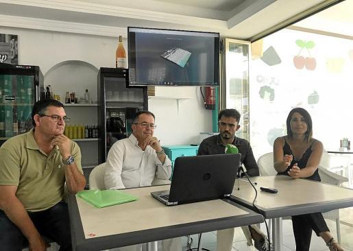 ´Ángel Luis Guerrero, Josep Marí Ribas, Pablo Valdés y Aída Alcaraz en rueda de prensa.