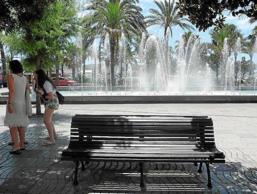 Imagen de archivo del passeig de ses Fonts, donde no se ubicará la feria este año.