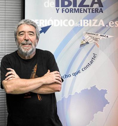 Vicent Serra, director de Es Mijorals de Don Mariano en la redacción.