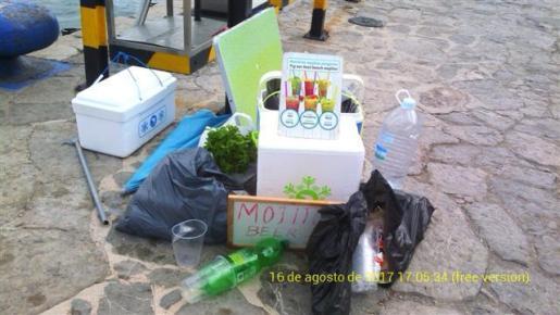 Intervienen 150 kilos de material para la venta ambulante en Punta Galera.