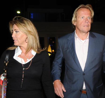 Norma Duval junto con su actual pareja, Matthias Kühn.