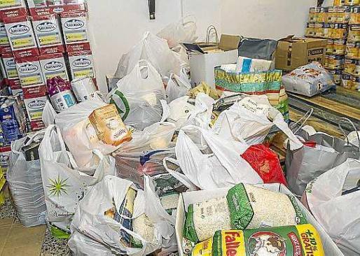 Imagen de archivo de una recogida de alimentos.