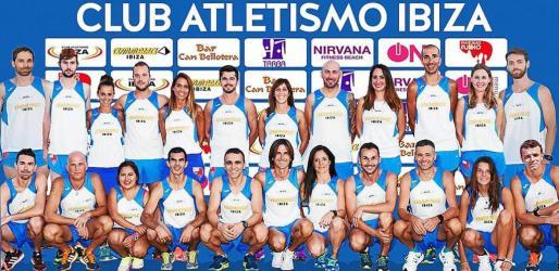 Imagen promocional de los integrantes del Club Atletismo Ibiza.