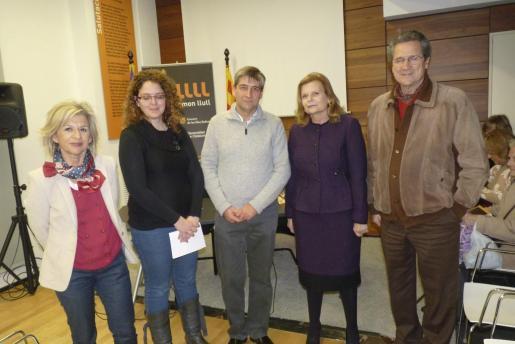 Bàrbara Galmés, Marta Carrió, Miquel Àngel Vidal, Carme Riera y Francesc Moll.