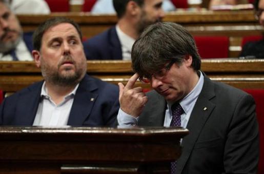 Junqueras y Carles Puigdemont.