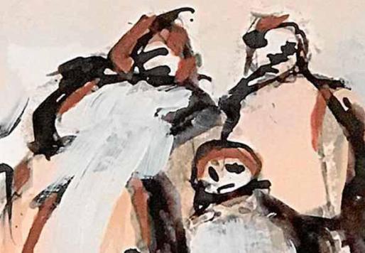 Una de las representaciones figurativas del pintor Carlos Genicio.