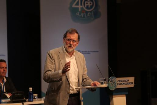 Mariano Rajoy, durante su intervención en la cumbre de presidentes regionales del PP.