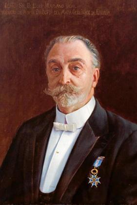 Luis Mariano Vidal Carreras en el retrato que forma parte de la galería de directores del Instituto Geológico y minero de España.