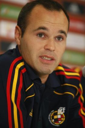 El jugador de la selección de fútbol de España Andrés Iniesta.