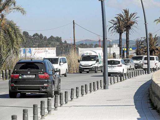Imagen de archivo de la avenida Santa Eulària, que se hará de sentido único.