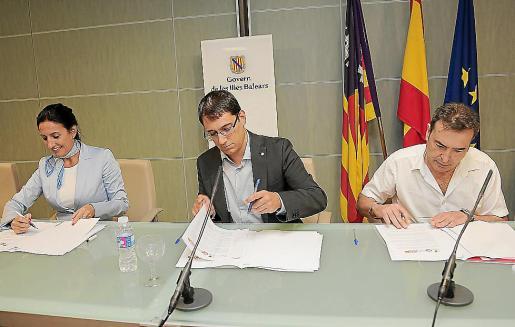 El nuevo convenio de hostelería se firmó ayer en Palma.