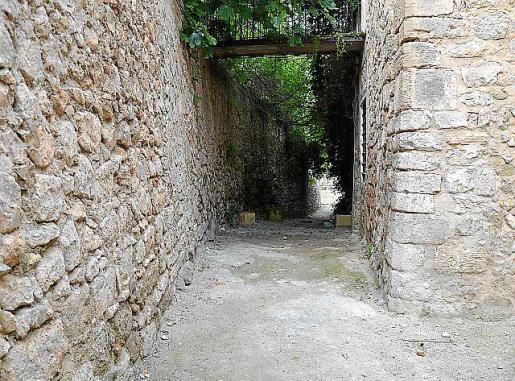 Imagen actual de la calle Soledat, una de las dos que se rehabilitará.