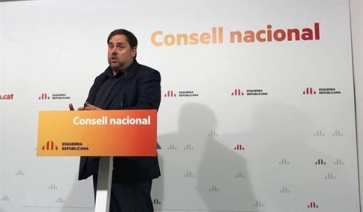 El líder de ERC y vicepresidente del Govern, Oriol Junqueras.