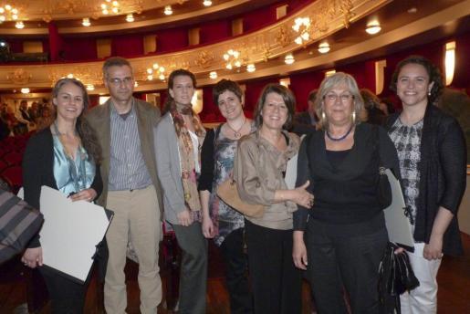 Margalida Miró, Antoni Aguiló, Olga Velasco, Josune Salinas, Gloria Gallego, Berta Artigas y Concha Forteza.