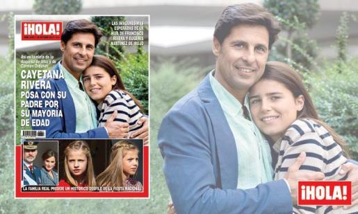 Francisco Rivera y su hija Cayetana posan en las revistas por la mayoría de edad de la joven.