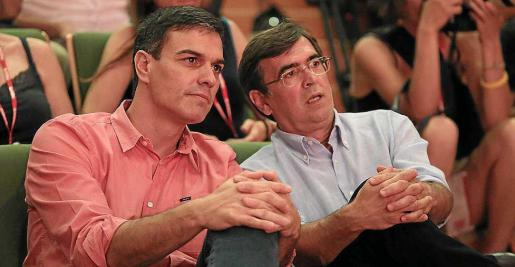 Sánchez y Antich en el último congreso del PSIB.