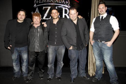 Carlos García, Sebastián Sandoval, Francisco Cobos, Fausto Pericás y Alejandro De María.