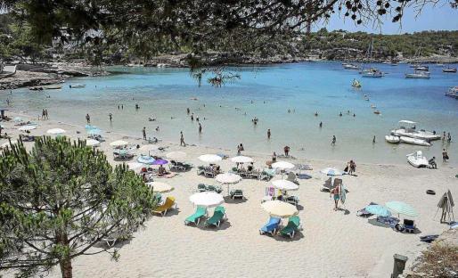 Arenal Gros de Portinatx, en el norte de la isla de Ibiza.