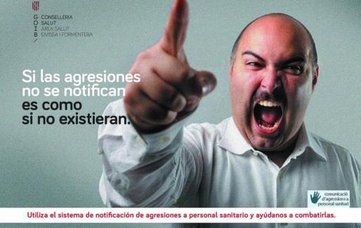 Este es uno de los salvapantallas en los que se le aconseja a los profesionales que comuniquen las agresiones.