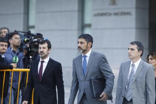 Imagen de archivo de Trapero acudiendo a la Audiencia Nacional.