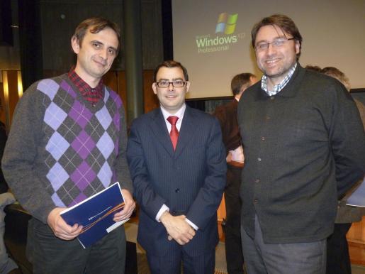 Gabriel Capó, Cosme Bonet y Albert Travesset, director de Televisió de Mallorca.