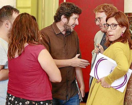 Camargo, Martínez, Jarabo y dos asesores de Podemos.