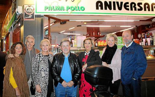 Mercedes Fernández, Juan Manuel Gómez, María Torrens, Claudio Pujol, Mercedes Alonso, Cati Torrens y Miguel Ángel Cano.