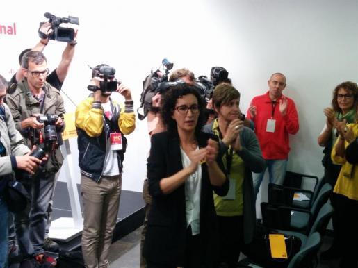 Imagen de archivo de la secretaria general de ERC, Marta Rovira en el pasado consell nacional del partido.