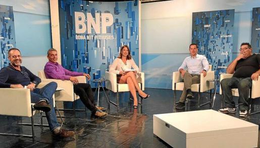 Joan Pantaleoni (PP), Gian di Terlizzi (Podemos), Simón Planells (PSOE) y Jesús Rumbo protagonizaron el debate de ayer.