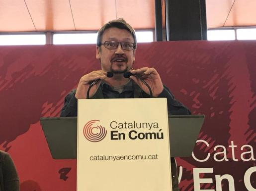 El candidato a la Presidencia de la Generalitat de Catalunya por en Comú-Podem (CatECP), Xavier Domènech.
