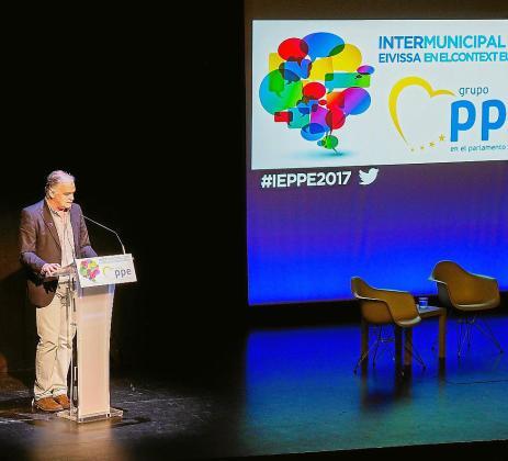 Un instante de la intervención de Esteban González Pons en Ibiza.