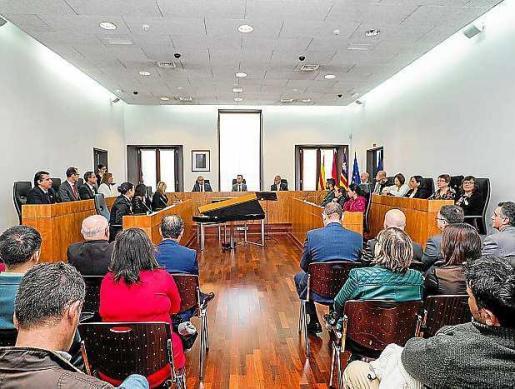 Un momento de la celebración del Día de la Constitución, ayer en Can Botino.