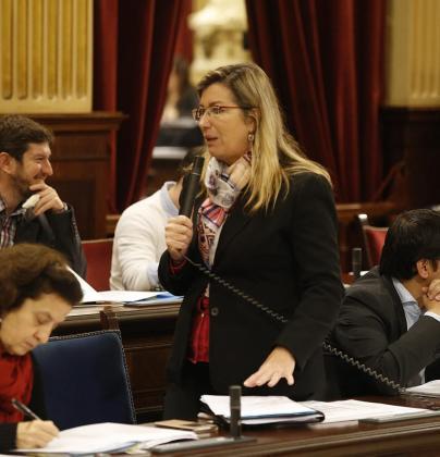 La consellera de Salut, Patricia Gómez, ayer en el Parlament.