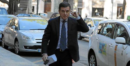 Jaume Matas, a su llegada a la Audiencia a una de las sesiones del 'caso Ópera'.