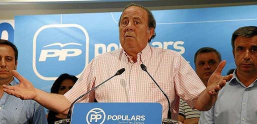 José María Rodríguez, en julio de 2016, el día que anunció su dimisión como presidente del PP-Palma.