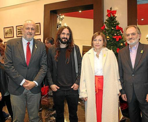 Miquel Ensenyat, Baltasar Picornell, Carme Forcadell y Jaume Mateu.