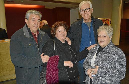 Antoni Ferrer, Catalina Amengual, Guillem Bonet y Pilar Mercadal.