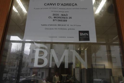 Menorca Mao Gemma Andreu oficina Sa Nostra BMN en Avenida Menorca cierre cerrada a partir de hoy Menorca Mao Gemma Andreu oficina Sa Nostra BMN en Avenida Menorc