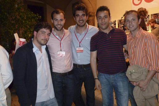 Juan Carlos Illaramendi, el presidente, Luis Berga; Alberto Ordinas, Toni Buades y Alejandro Arroyo.