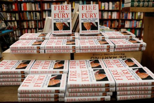 Copias del libro «Fire and Fury».