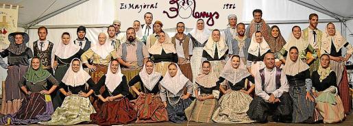 Imagen promocional de la Agrupació Folklòrica Es Majoral de Calonge de Mallorca.
