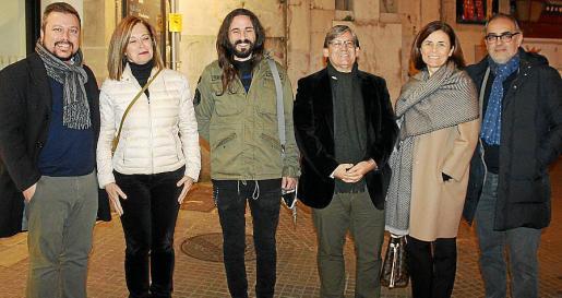 Joan Carles Martorell, Ángela Bosch, Baltasar Picornell, Vicenç Thomás, Paula Serra y Pep Tosar.