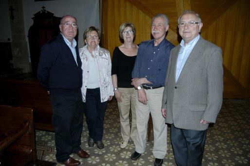 Antonio Gelabert, Joana Gual, Francisca Pons, Manuel Peset y Baltasar Bibiloni.