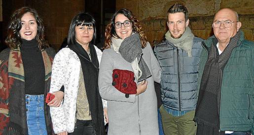Francina Crespí, Francisca Bennàssar, Àngela Crespí, Tomeu Carbonell y Nadal Crespí.